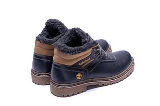 Мужские зимние кожаные ботинки в стиле Timberland Legend Blue, фото 3