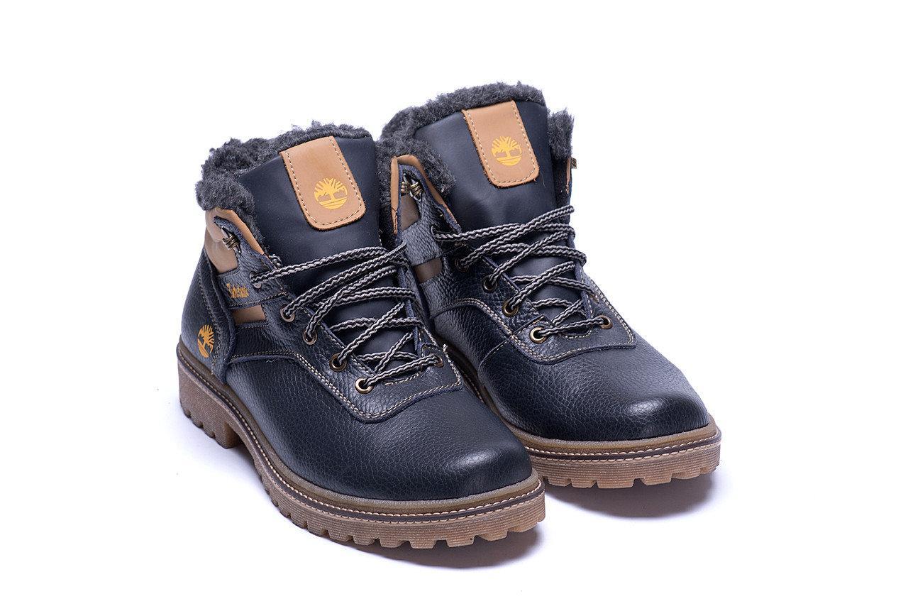 Мужские зимние кожаные ботинки в стиле Timberland Legend Blue