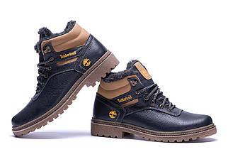 Мужские зимние кожаные ботинки в стиле Timberland Legend Blue, фото 2
