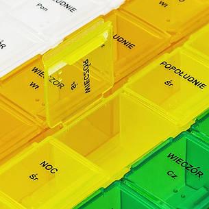 Еженедельный пластиковый контейнер для таблеток, разные цвета, фото 2
