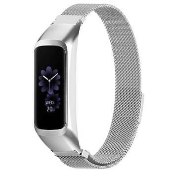 Миланский ремешок Primo для фитнес браслета Samsung Galaxy Fit E ( SM-R375 ) - Silver