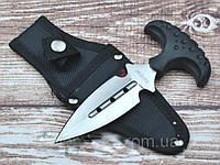 Нож тычок  пуш даггер + чехол, рукоять прорезинена, тычковый нож на подарок туристу, охотнику, фото 1
