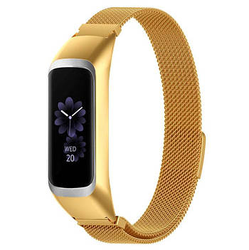 Миланский ремешок Primo для фитнес браслета Samsung Galaxy Fit E ( SM-R375 ) - Gold