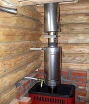 Теплообменник на дымоход Ø 115 L=526мм для бани и сауны, фото 3