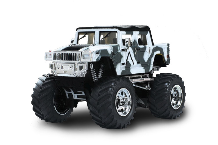 Машинка на радиоуправлении джип 1:43 Great Wall Toys Hummer (хаки белый)