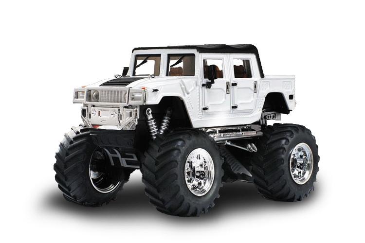 Машинка на радиоуправлении джип 1:43 Great Wall Toys Hummer (белый)