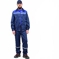 Комбинезон куртка синий со светоотражающими полосами