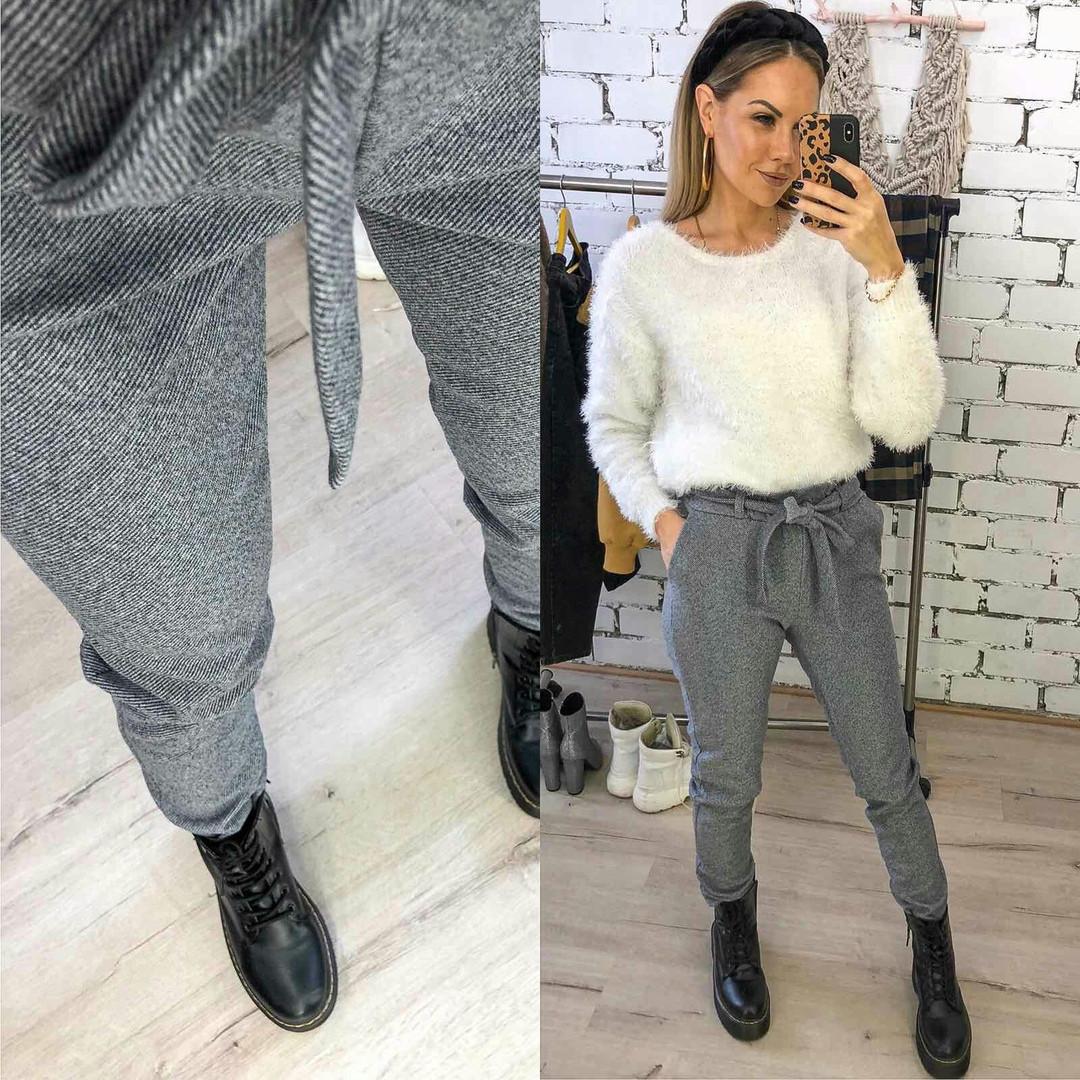 Модные женские брюки на пояске отличное мягкое качество42,44,46,48р.(3расцв)