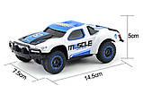 Машинка на радиоуправлении с резиновыми колёсами полноприводная 1:43 HB Toys Muscle синяя, фото 5