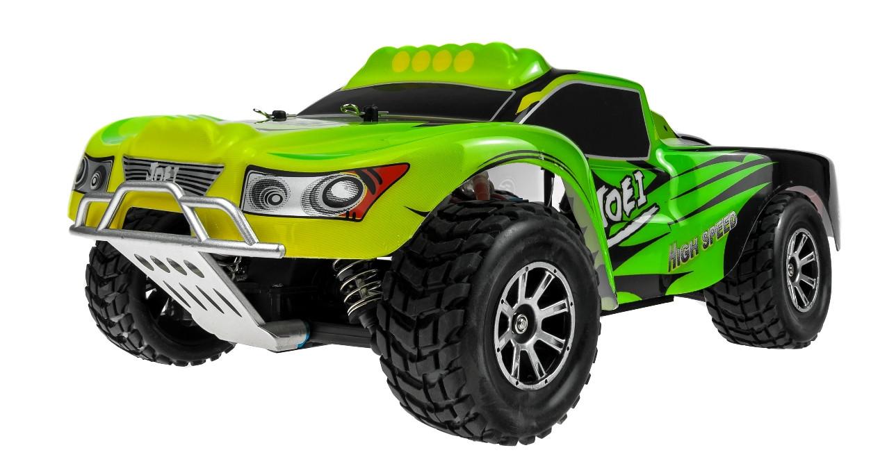 Автомодель внедорожник полноприводный шорт-корс радиоуправляемая 1:18 WL Toys A969 4WD зеленая