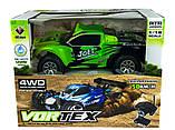 Автомодель внедорожник полноприводный шорт-корс радиоуправляемая 1:18 WL Toys A969 4WD зеленая, фото 8