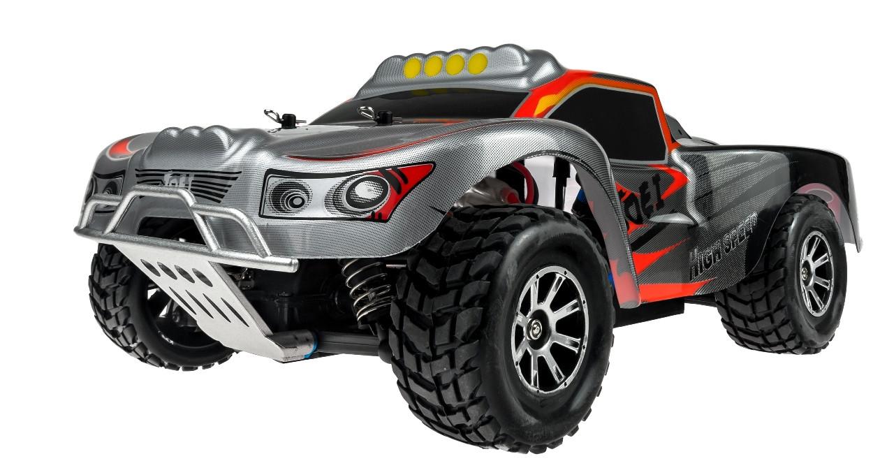 Автомодель внедорожник полноприводный шорт-корс радиоуправляемая 1:18 WL Toys A969 4WD серая