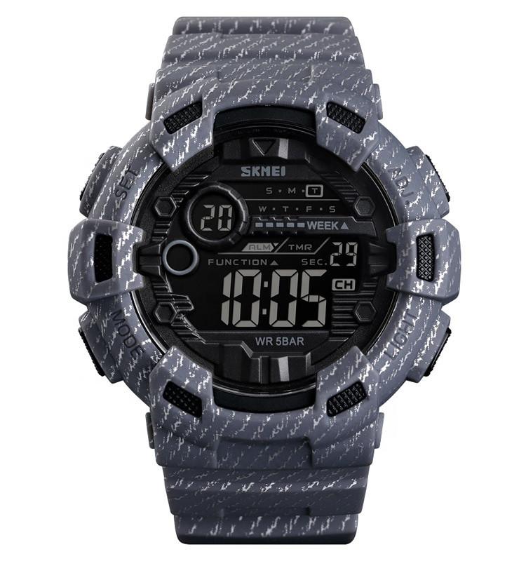 Skmei 1472 champion серые мужские спортивные часы