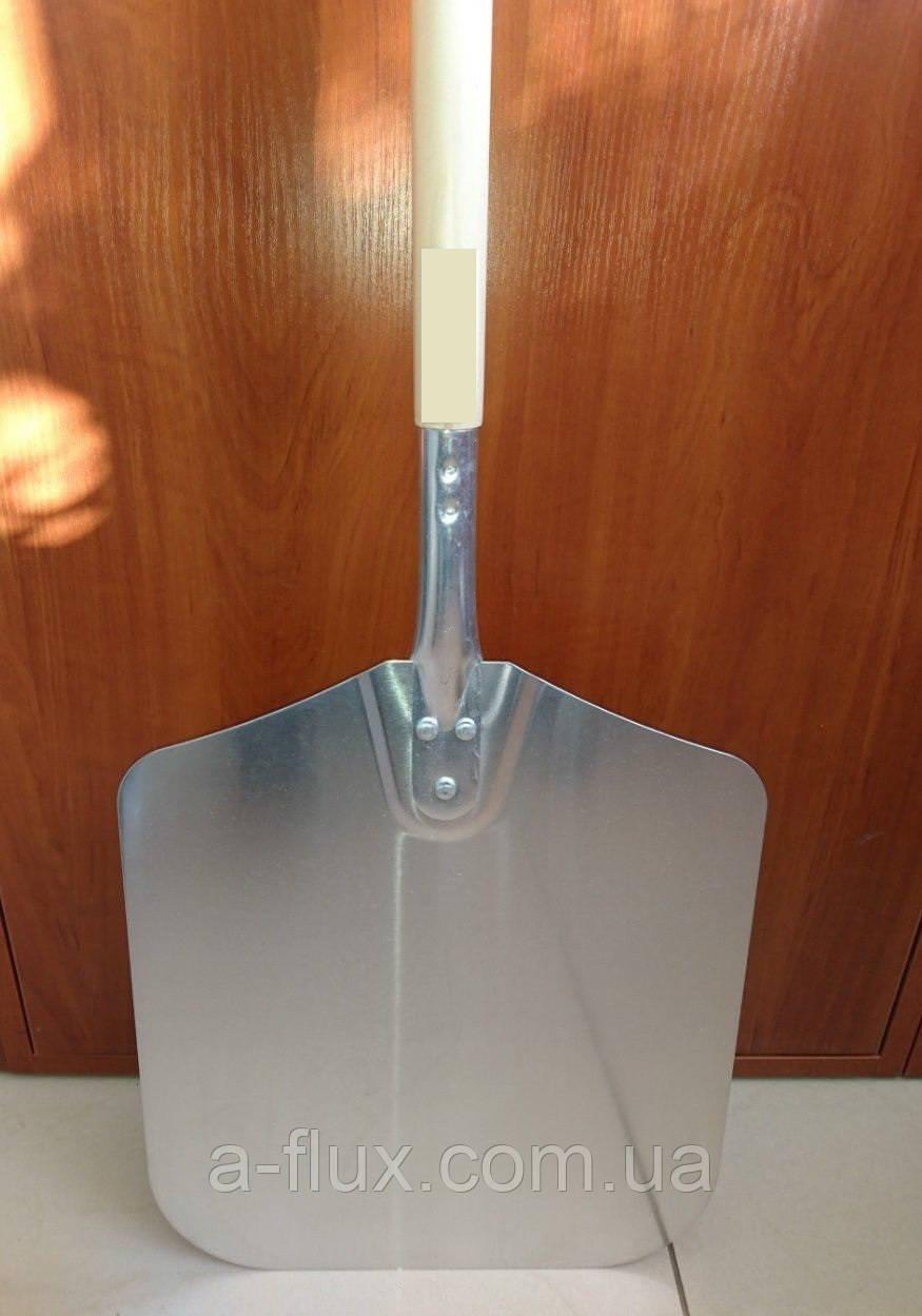 Лопата для пиццы алюминиевая 30,5х35 см, деревянная ручка, общая длина 132 см Китай  654127