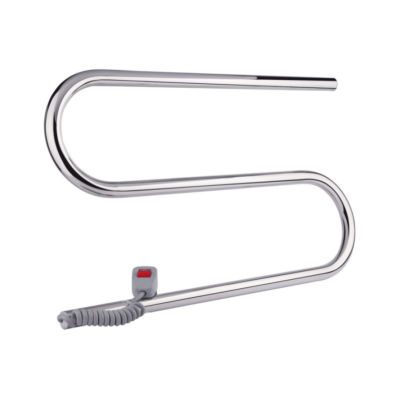 Полотенцесушитель электрический Q-tap Snake (CRM) 600x330 LE