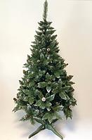 """Штучна ялинка SUNROZ """"Лісова королева"""" з шишками 2,5м Зелена з білим напиленням (SUN5987)"""