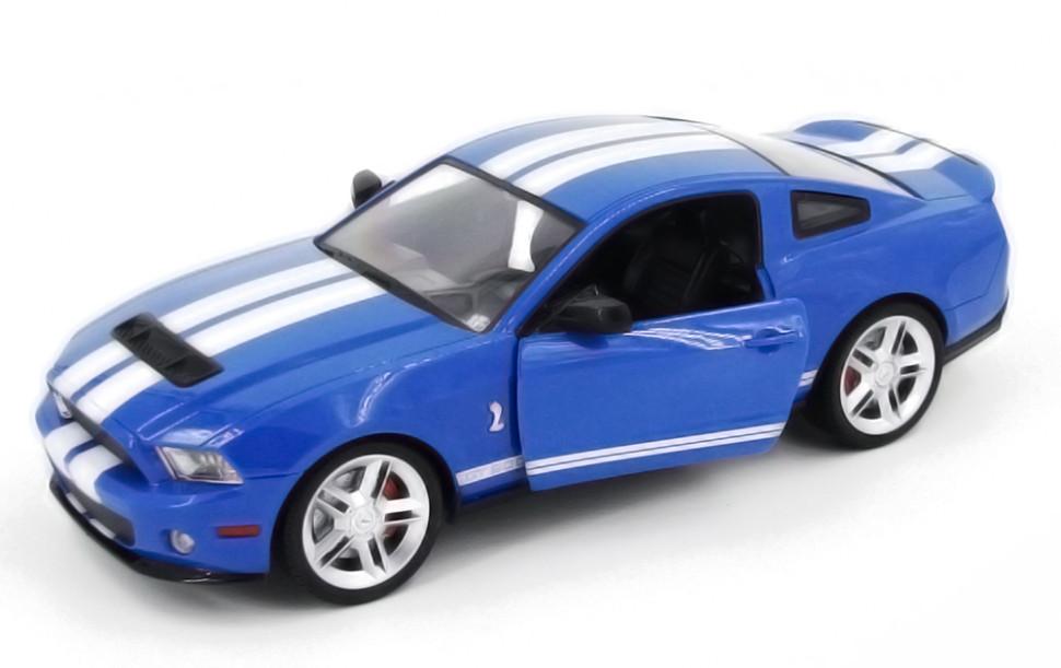 Машинка радиоуправляемая копия автомобиля Ford GT500 Mustang в масштабе 1:14 синяя