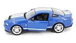 Машинка радиоуправляемая копия автомобиля Ford GT500 Mustang в масштабе 1:14 синяя, фото 2