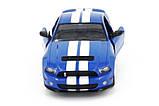Машинка радиоуправляемая копия автомобиля Ford GT500 Mustang в масштабе 1:14 синяя, фото 4