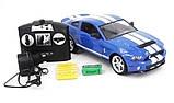 Машинка радиоуправляемая копия автомобиля Ford GT500 Mustang в масштабе 1:14 синяя, фото 6