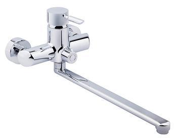 Однорычажные смесители для ванной - хром