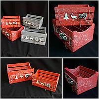 Стильный новогодний ящик, разные цвета, р-ры 14х28х20 см., 125 грн., фото 1