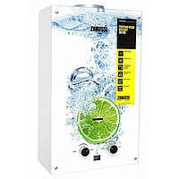 Колонка газовая дымоходная Zanussi GWH 10 Fonte Glass Lime (Доставка бесплатно)
