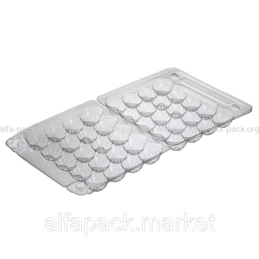 Упаковка для перепелиных яиц 20шт ПС-111, 155*150*40 (600 шт в ящике)