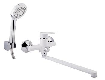 Однорычажные смесители для ванной - белого цвета