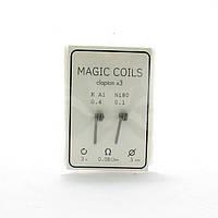 Комплект спіралей Magic Coils Triple Clapton №34 2 шт 0.08 Ом
