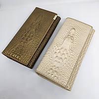 Женский кошелек из натуральной кожи CROCODILE (ALIGATOR) 4 цвета