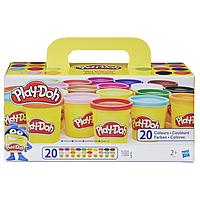 Hasbro Play Doh Плей-До Набор пластилина из 20 баночек-A7924