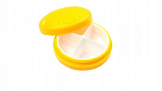 Контейнер для таблеток на 4 приема, желтый