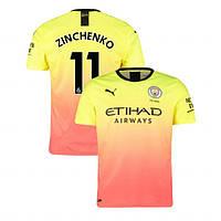 Детская футбольная форма Манчестер Сити ZINCHENKO 11 сезон 2019-2020 резервная желтая, фото 1