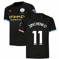 Детская футбольная форма Манчестер Сити ZINCHENKO 11 сезон 2019-2020 выездная черная, фото 1