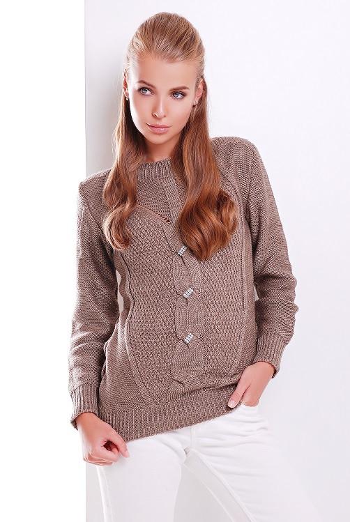 Женский свитер 159 кофе (44-50)