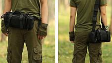 Сумка через плечо на пояс Штурмовая Туристическая Battler v.3. Армейская, Походная, тактическая, для рыбалки, фото 3