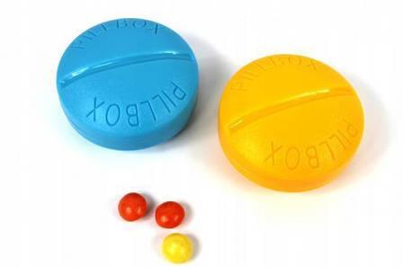 Контейнер для таблеток на 4 приема, голубой, фото 2