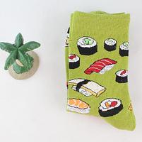 Высокие женские носочки с принтом Суши, фото 3