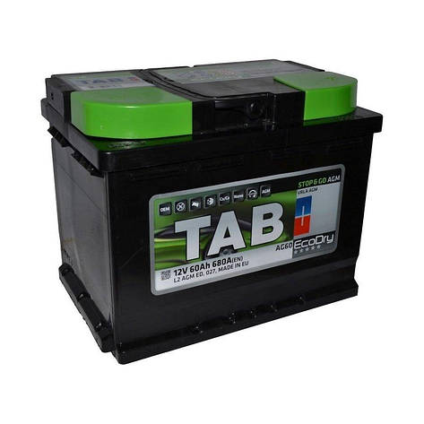 TAB Ecodry 6СТ-60 АзЕ 213060 Автомобильный аккумулятор, фото 2