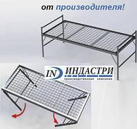 ✅ Металлическая одноярусная кровать-раскладушка (для общежитий, казарм, хостелов). ОПТом от 10 шт✅