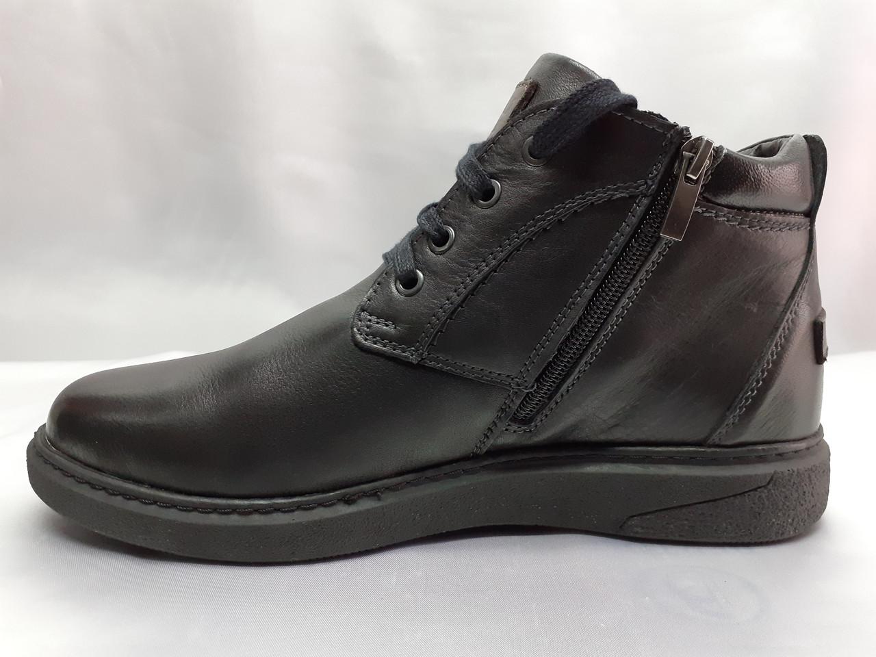 Мужские зимние полуботинки-ботинки на цигейке Detta