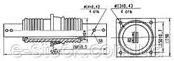 Изоляторы фарфоровые проходные ИП-10-1600, Изолятор ИП-10/1600-7,5 УХЛ2, Изоляторы ИП-10/1600-7,5 УХЛ2