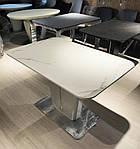 Стол обеденный ALABAMA (120+40)*80*77) керамика белый, Nicolas, фото 4