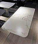 Стол обеденный ALABAMA (120+40)*80*77) керамика белый, Nicolas, фото 5