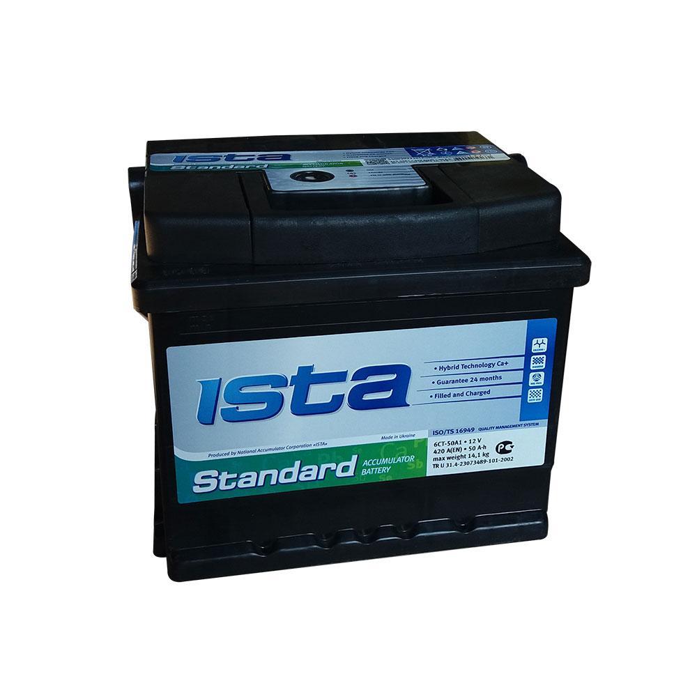 ISTA 6СТ-50 АзЕ Standard A1 (550 01 04) Автомобильный аккумулятор
