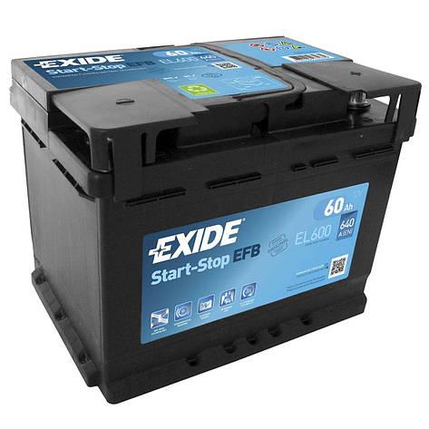 EXIDE 6СТ-60 АзЕ EFB EL600 Автомобильный аккумулятор 2011, фото 2