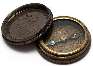 Компас Beatles бронза d-6,h-2 см Brass Beatles Compass 2inches diameter