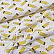 Ткань польская хлопковая, желтые карандаши, фото 2