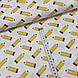 Ткань польская хлопковая, желтые карандаши, фото 4